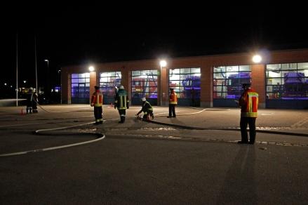 Blick auf das Gelände der Feuerwehr Hersbruck, auf dem die Prüfung stattfand.