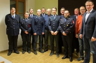 Gruppenbild aller Geehrten bei der Jahreshauptversammlung 2019